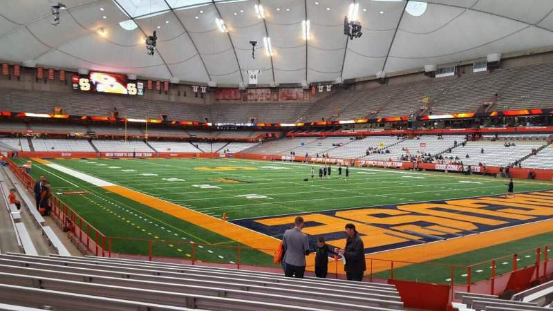 Seating view for Carrier Dome Section 111 Row l Seat 1