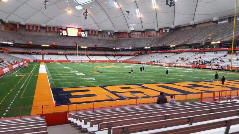Seating view for Carrier Dome Section 110 Row l Seat 1
