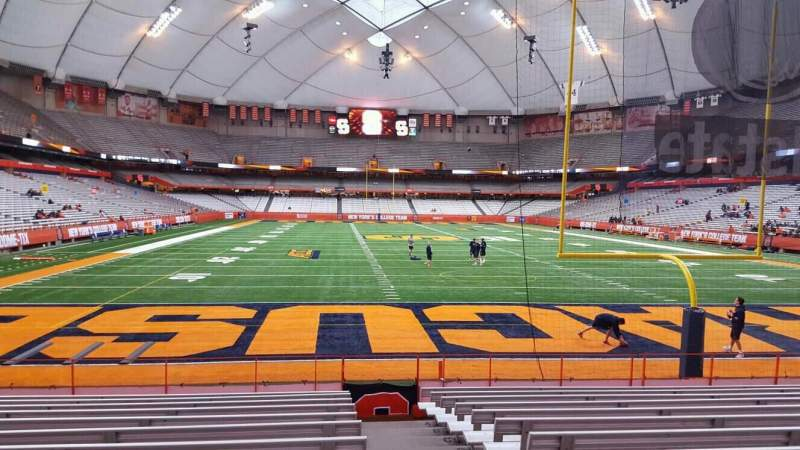 Seating view for Carrier Dome Section 109 Row l Seat 1