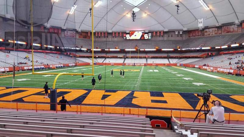 Carrier Dome, section 108, row l, seat 1 - Syracuse Orange ...