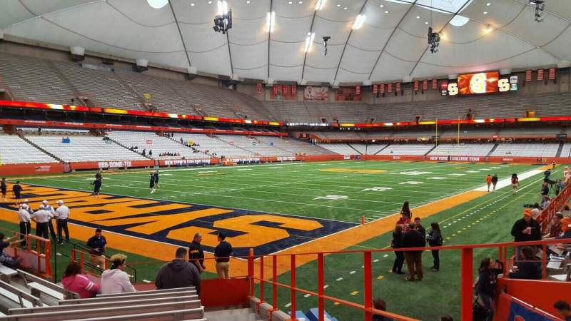 Seating view for Carrier Dome Section 106 Row k Seat 1