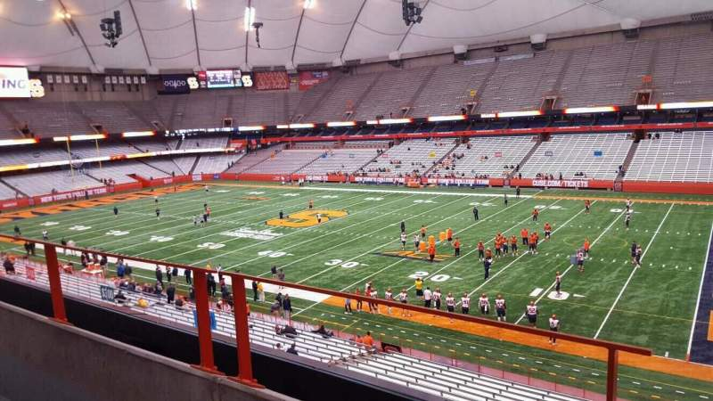 Seating view for Carrier Dome Section 334 Row b Seat 1