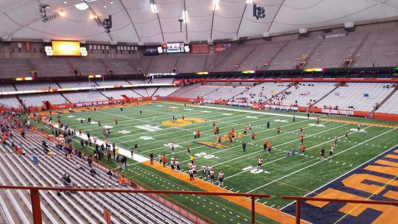 Seating view for Carrier Dome Section 332 Row b Seat 8