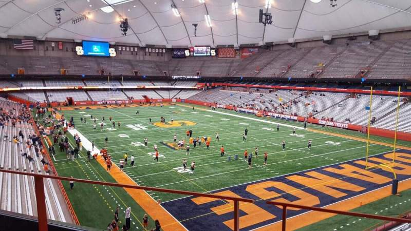 Seating view for Carrier Dome Section 331 Row b Seat 5
