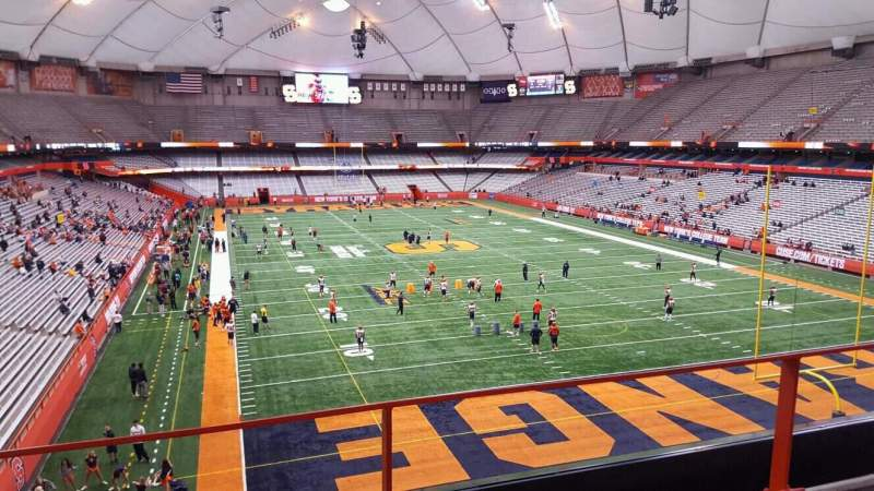 Seating view for Carrier Dome Section 330 Row b Seat 114