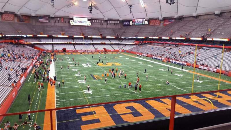 Seating view for Carrier Dome Section 329 Row b Seat 16