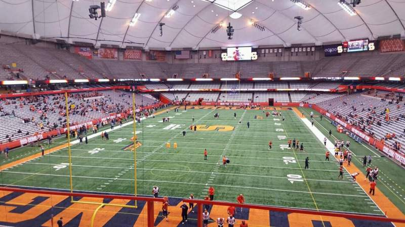 Seating view for Carrier Dome Section 327 Row b Seat 8