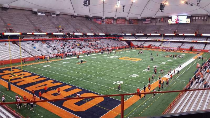 Seating view for Carrier Dome Section 325 Row b Seat 115