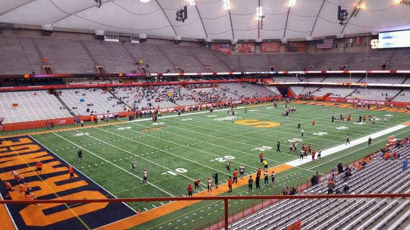 Seating view for Carrier Dome Section 324 Row b Seat 116