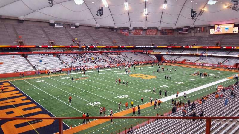 Seating view for Carrier Dome Section 323 Row b Seat 16