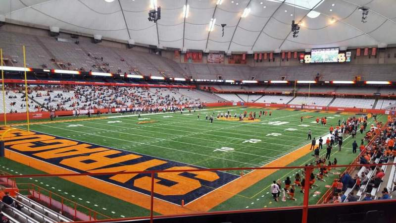 Seating view for Carrier Dome Section 209 Row c Seat 106