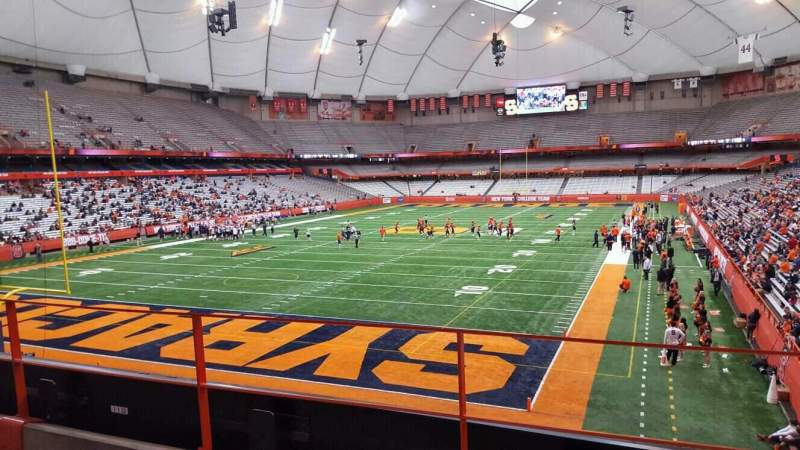 Seating view for Carrier Dome Section 208 Row c Seat 107