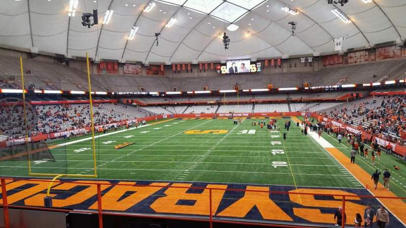 Seating view for Carrier Dome Section 211 Row d Seat 116