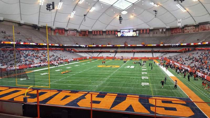 Seating view for Carrier Dome Section 210 Row d Seat 18