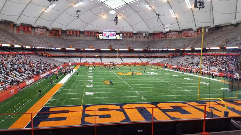 Seating view for Carrier Dome Section 212 Row d Seat 18