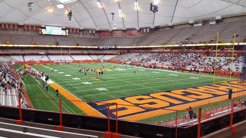 Seating view for Carrier Dome Section 214 Row e Seat 101