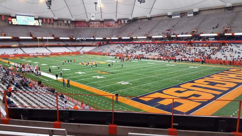 Seating view for Carrier Dome Section 215 Row e Seat 101