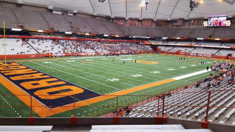Seating view for Carrier Dome Section 244 Row g Seat 101