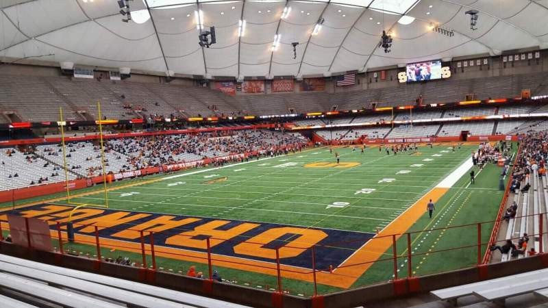Seating view for Carrier Dome Section 245 Row g Seat 6