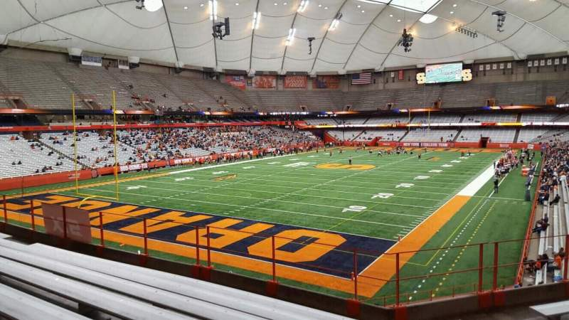 Seating view for Carrier Dome Section 246 Row g Seat 120