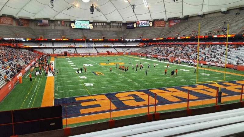 Seating view for Carrier Dome Section 249 Row g Seat 101