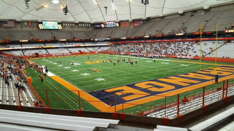 Seating view for Carrier Dome Section 250 Row g Seat 101