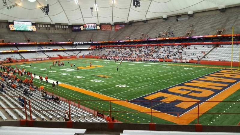 Seating view for Carrier Dome Section 251 Row g Seat 101