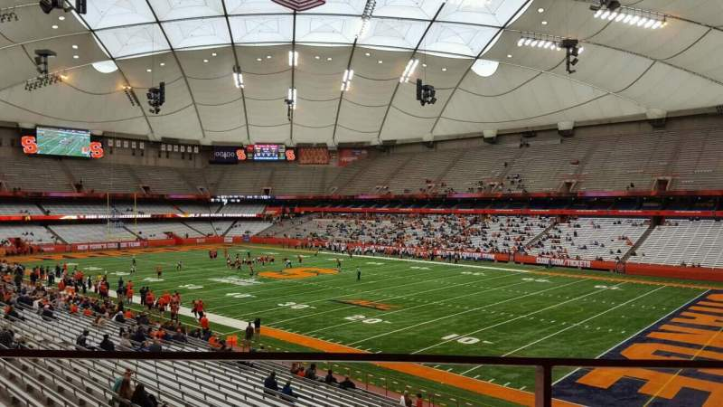 Seating view for Carrier Dome Section 252 Row g Seat 103