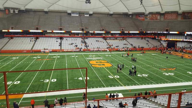 Seating view for Carrier Dome Section 320 Row c Seat 104