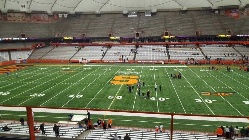 Seating view for Carrier Dome Section 319 Row b Seat 116
