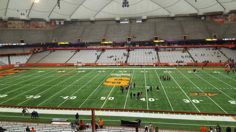 Seating view for Carrier Dome Section 318 Row b Seat 18