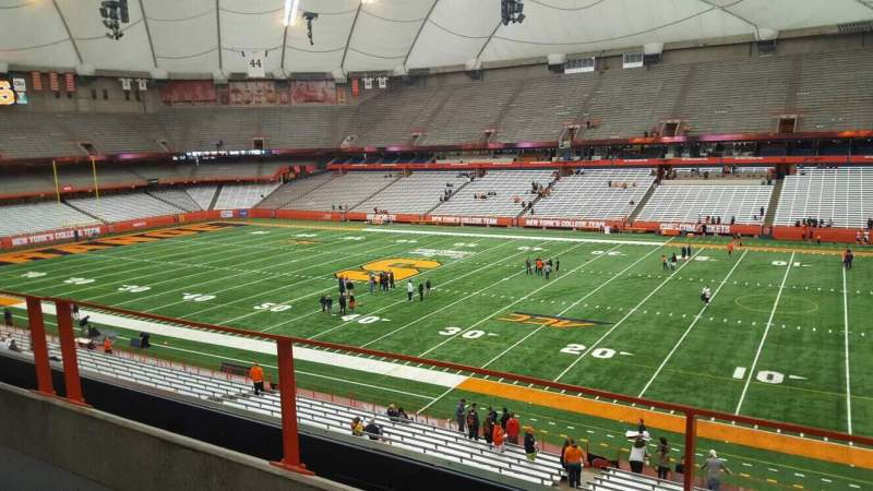 Seating view for Carrier Dome Section 317 Row b Seat 114