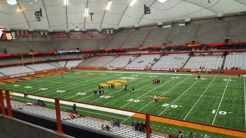 Seating view for Carrier Dome Section 316 Row b Seat 16