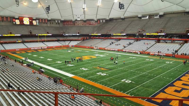 Seating view for Carrier Dome Section 315 Row b Seat 116
