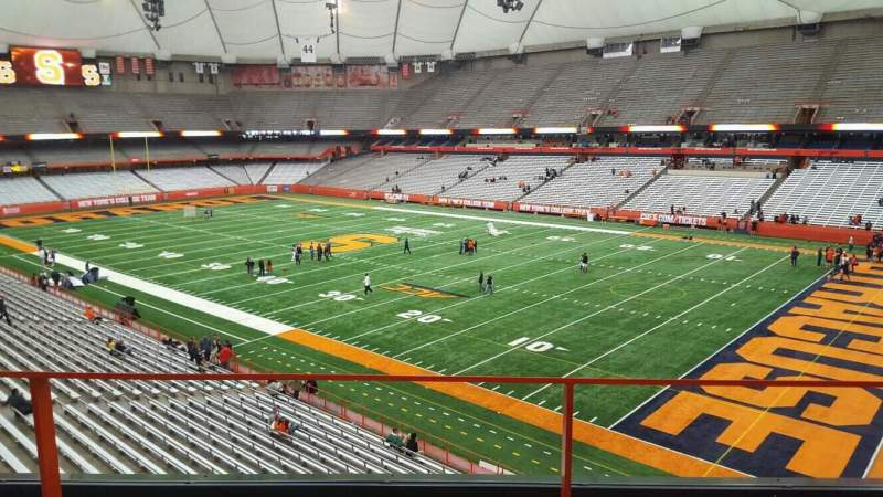 Seating view for Carrier Dome Section 314 Row b Seat 16