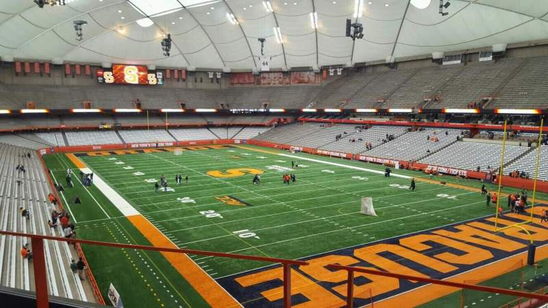 Seating view for Carrier Dome Section 313 Row b Seat 5