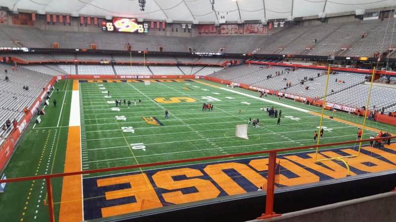 Seating view for Carrier Dome Section 311 Row b Seat 16