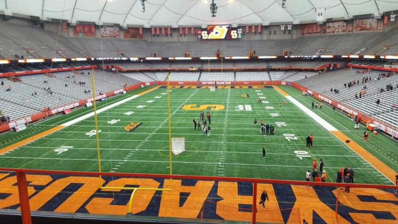 Seating view for Carrier Dome Section 310 Row b Seat 116