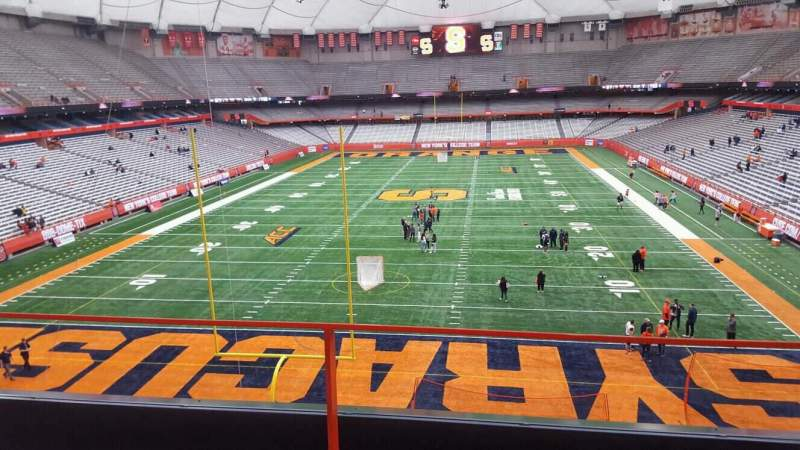 Seating view for Carrier Dome Section 309 Row b Seat 18