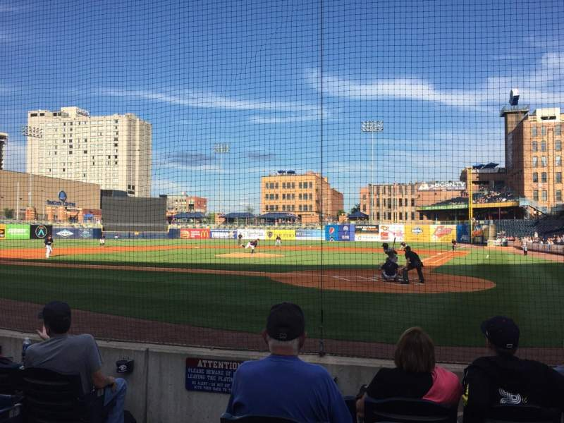 Seating view for Fifth Third Field Section 109 Row F Seat 9