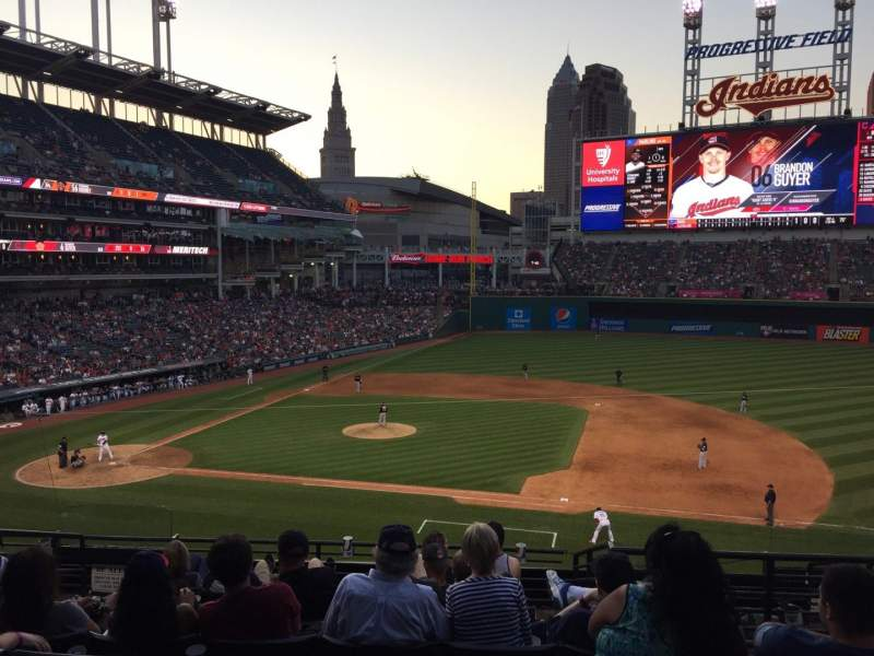 Seating view for Progressive Field Section 342 Row H Seat 6