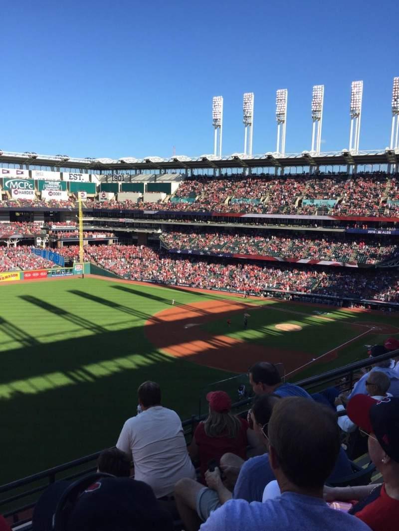 Progressive Field, section: 476, row: D, seat: 5