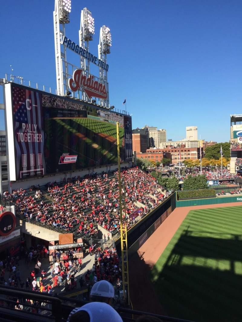 Seating view for Progressive Field Section 476 Row D Seat 5