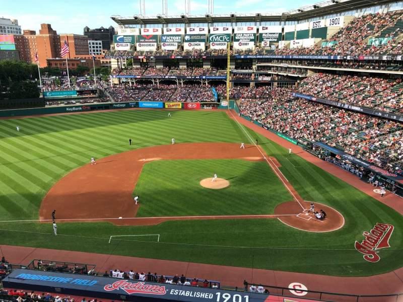 Progressive Field, section: 460, row: A, seat: 6