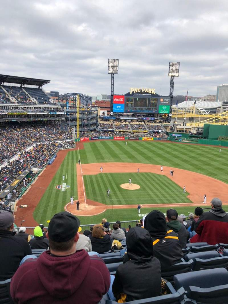 Seating view for PNC Park Section 212 Row K Seat 11