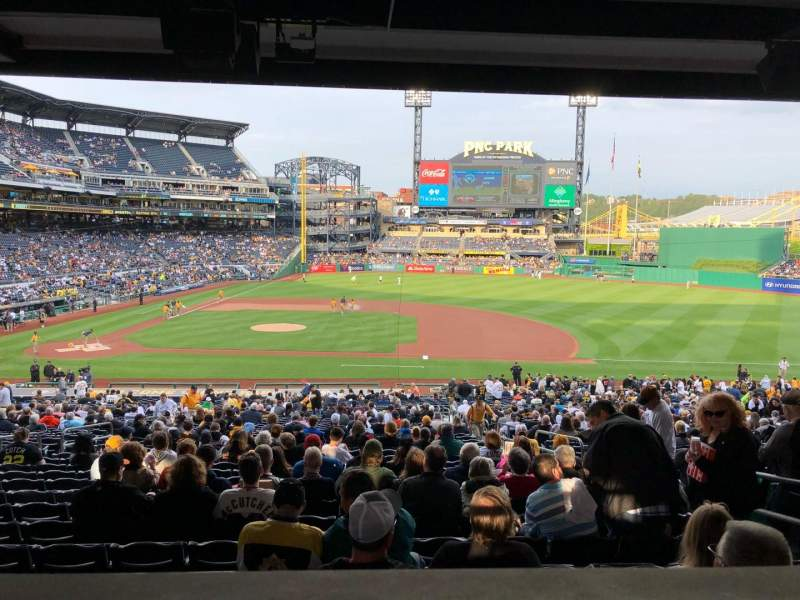 PNC Park, section: 110, row: HH, seat: 5