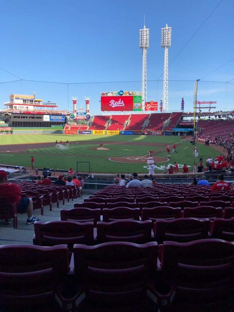 Great American Ball Park, section: 121, row: CV, seat: 14