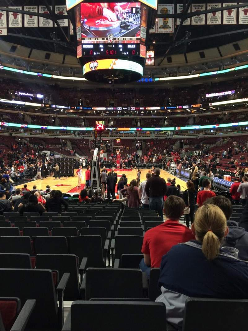 Seating view for United Center Section 106 Row 5 Seat 3