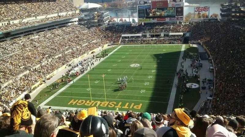 Seating view for Heinz Field Section 525 Row LL Seat 20