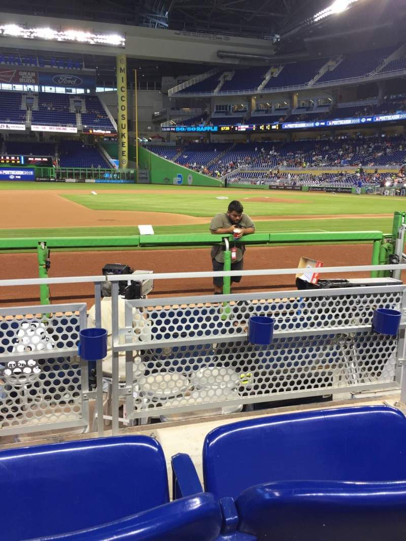 Seating view for Marlins Park Section 21 Row B Seat 15